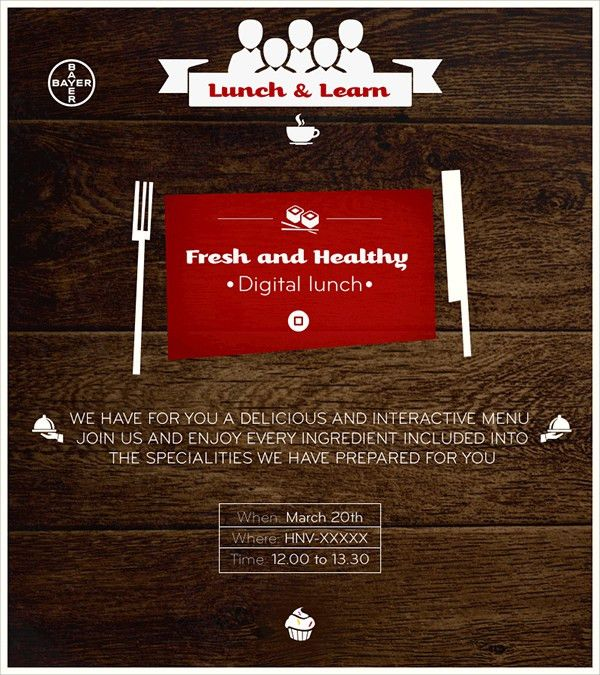 15+ Lunch Invitations - PSD, Vector EPS