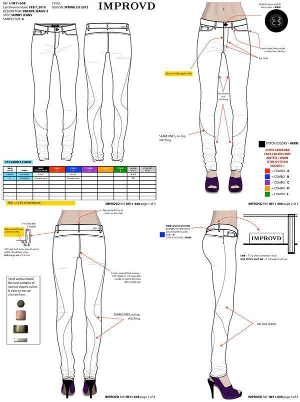 32 best Fashion Apparel Tech Pack Templates images on Pinterest ...