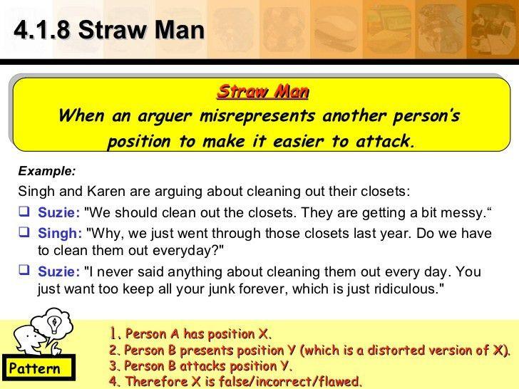 4.1.8 Straw Man <ul><li>Example: </li></ul><ul><li>Singh