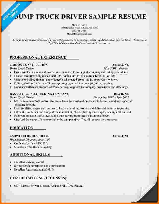 11+ flatbed truck driver resume | Financial Statement Form