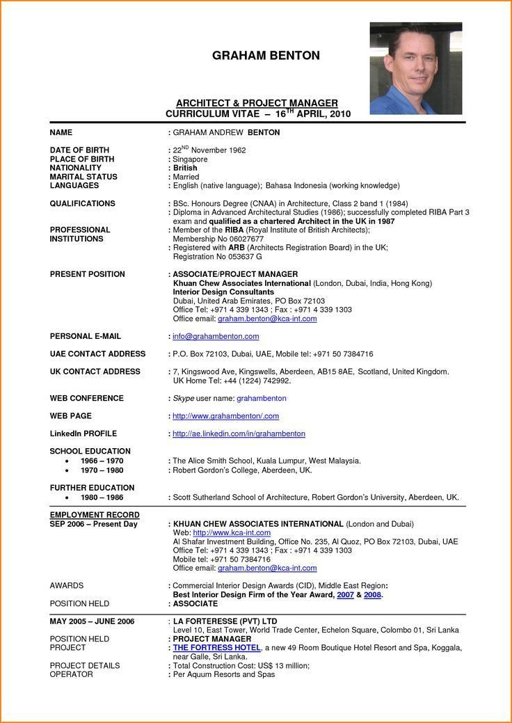 architectural project manager resume architectural project