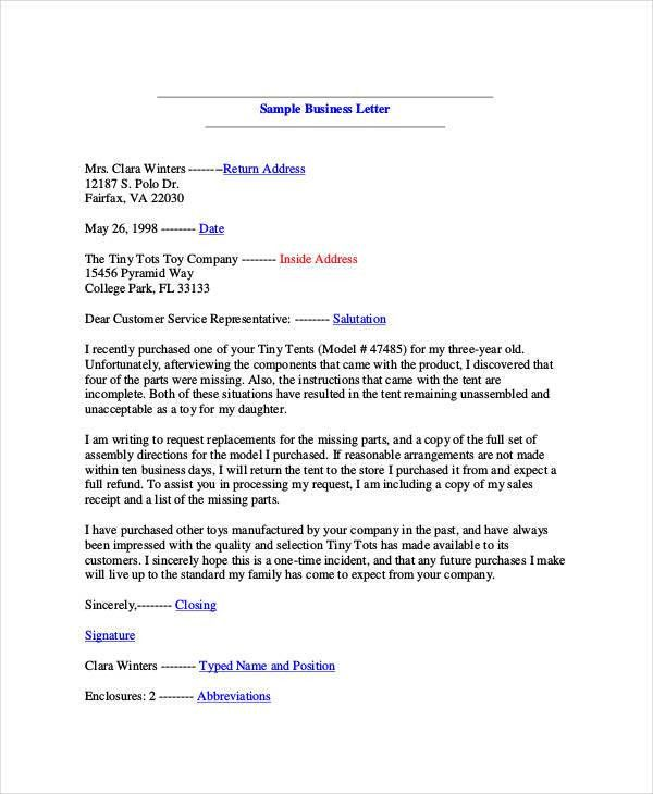 Free Letter Templates - 34+ Free Word, PDF Documents Download ...