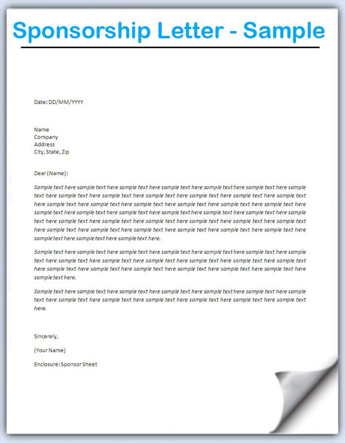 Writing a Sponsorship Letter - Sample 2 | Samples