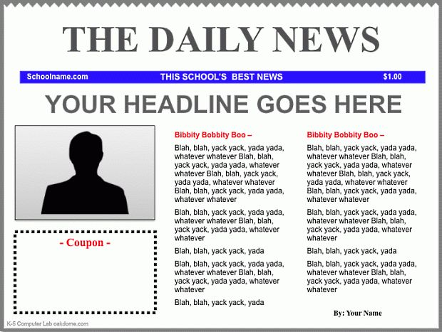 7+ newspaper template - Budget Template Letter