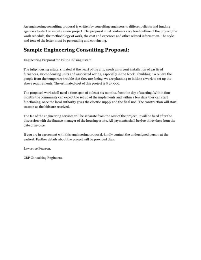 Consulting Proposal Template  LondaBritishcollegeCo