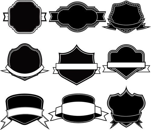 Ribbon with labels blank template vector 08 - Vector Label, Vector ...