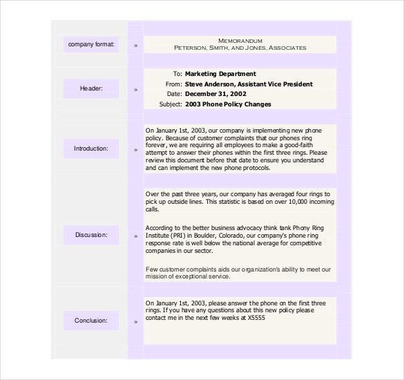 15+ Free Memo Templates – Free Sample, Example, Format Download ...