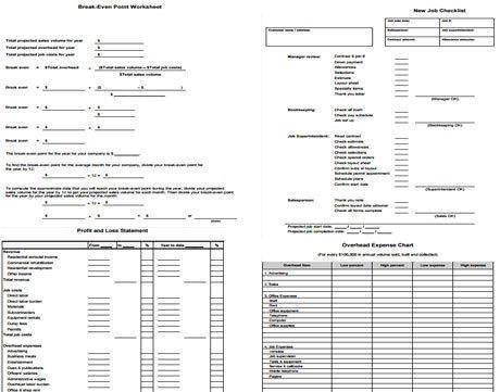 Breakeven Point Worksheet Form, New Job Checklist Form, Profit ...