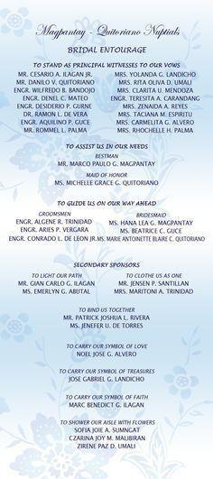 Wedding Invitation Format Entourage: Wedding Invitation Entourage ...