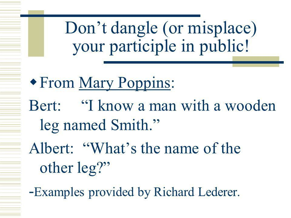 Misplaced Modifiers Dangling Modifiers - ppt download
