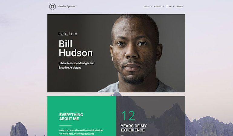 25+ Best Resume CV WordPress Themes 2017