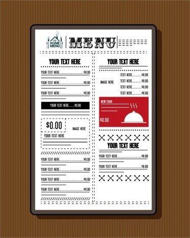 Restaurant menu template classical black white design vectors ...