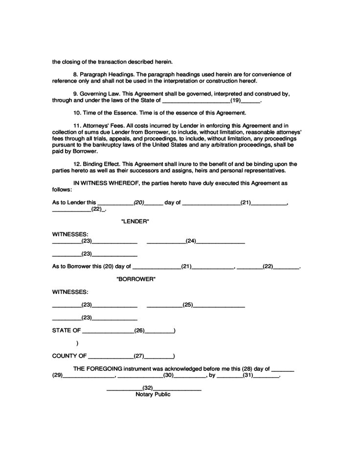 Mortgage Assumption Agreement Free Download