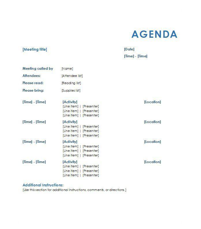 samples of meeting agenda