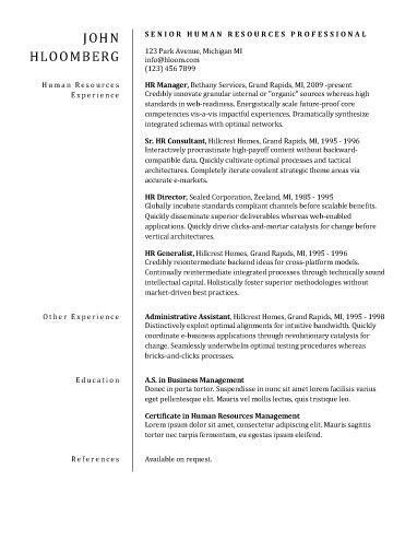 sample resume template for performance arts with stage and film ...