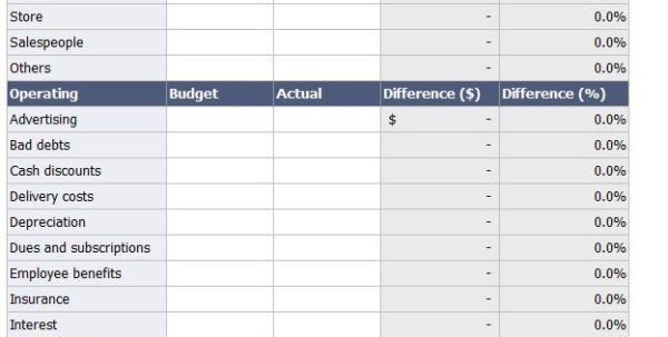 Spreadsheet For Monthly Expenses Bookkeeping Spreadsheet Template ...