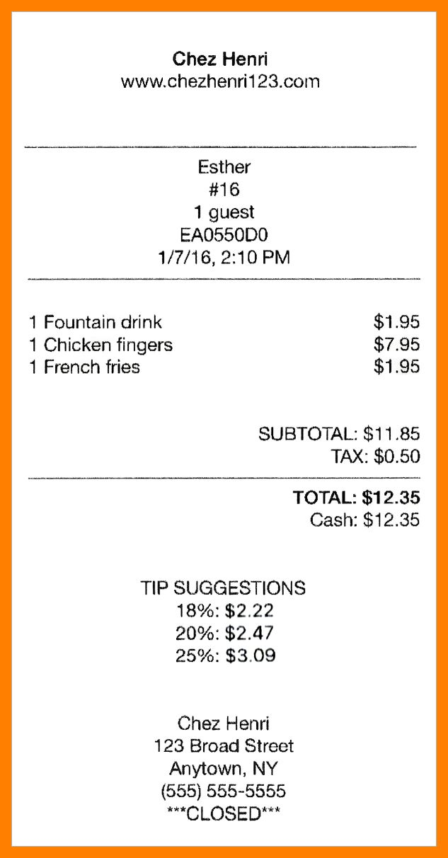 7+ itemized receipt example | resumes great