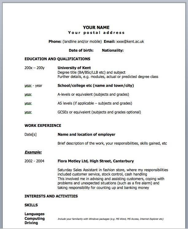 1 Page Resume Example. Easy One Page Resume Example Free Resume ...