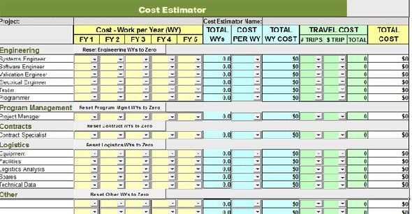 Cost Estimate Template. Download Construction Cost Estimate ...