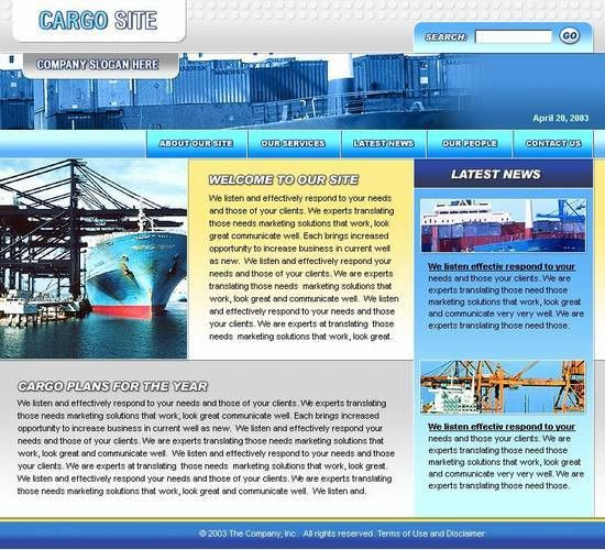Shipping company website template – Over millions vectors, stock ...