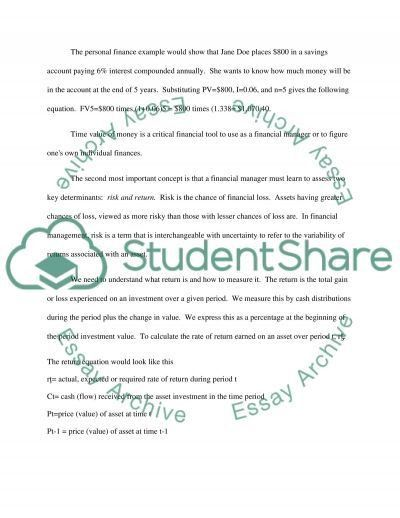 FINANCIAL MANAGEMENT reflection paper Essay Example | Topics and ...