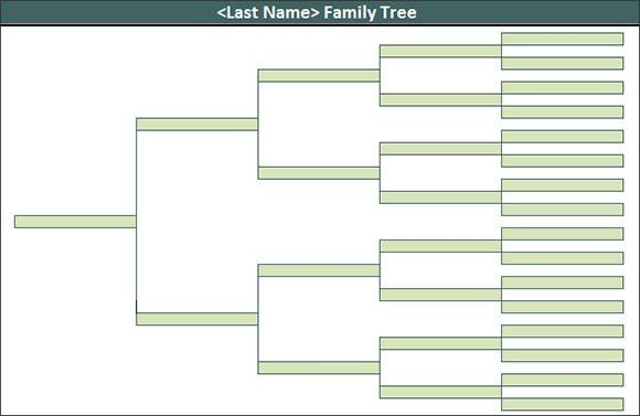 family tree format in excel