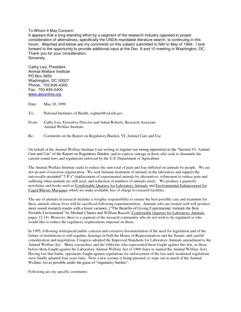 Classy Design Ideas Cover Letter Format To Whom It May Concern 14 ...