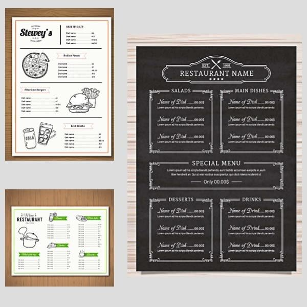 Free Restaurant Menu Templates Download
