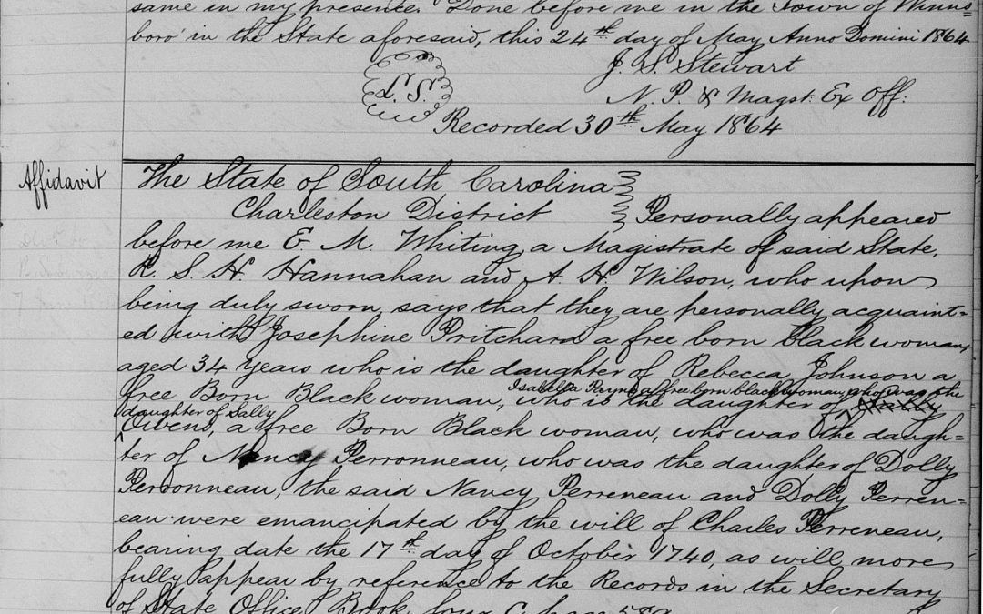 Affidavit Lists 6 Generations of Free African American Family ...