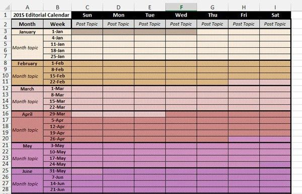 Editorial Calendar Template | cyberuse