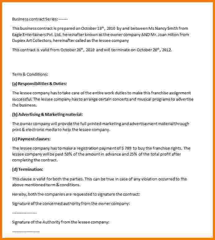 Business Contract Template. Event Photography Contract Template ...