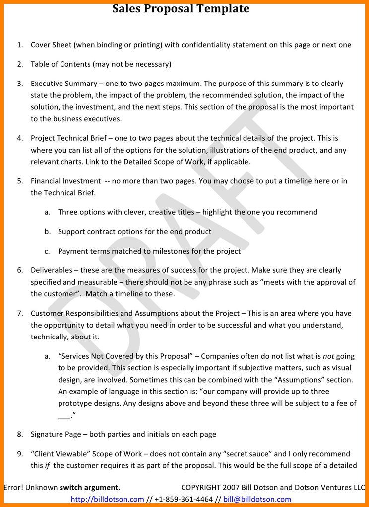6+ sales proposal doc | cna resumed