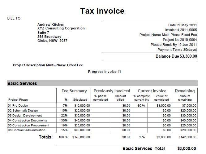 BQE Knowledgebase :: How do I create progress invoices in ArchiOffice?