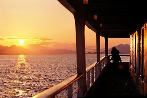 Alaska, Inside Passage, Sunset from cruise ship | David Sanger ...