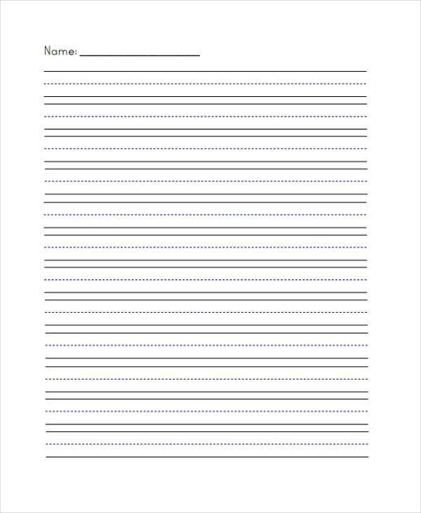 Free Lined Handwriting Paper | Samples.csat.co