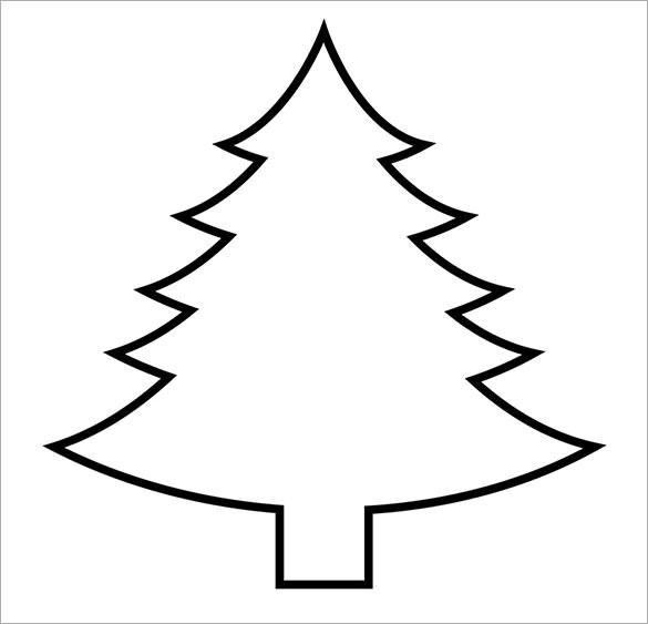 Blank Christmas Tree Template 2017 | Best Template Examples