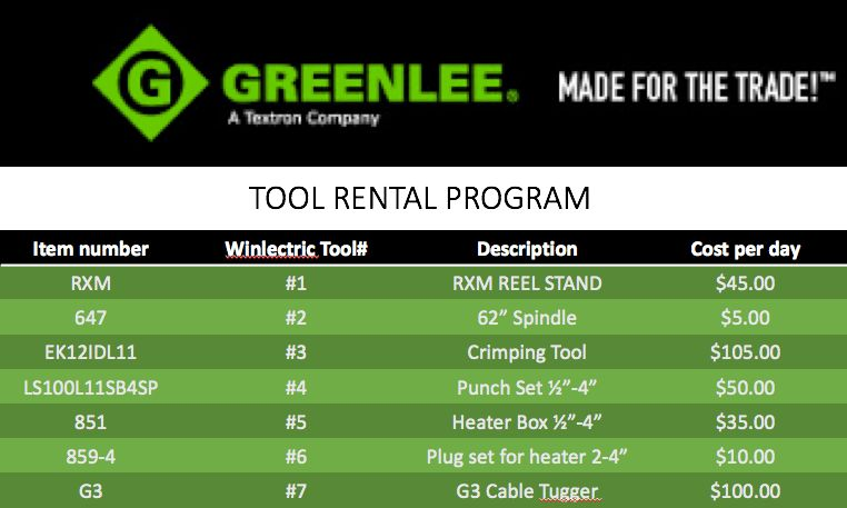 Shelton Winlectric | Tool Rentals