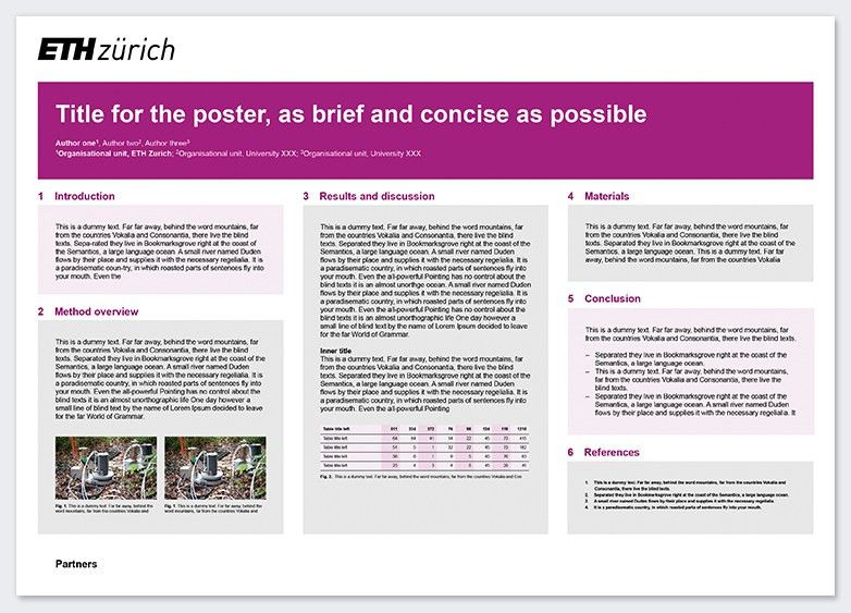 Research poster – Services & resources | ETH Zurich