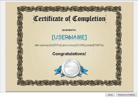 How to Create Certificates for Quiz-takers