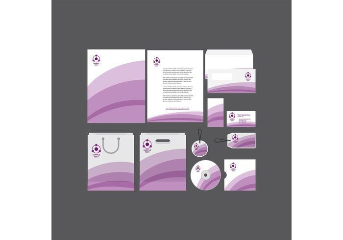 Purple Stripe Company Profile Template - Download Free Vector Art ...