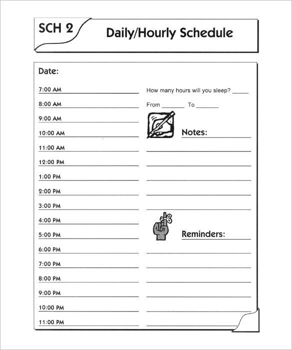 Day Schedule Template – 8+ Free Sample, Example Format Download ...