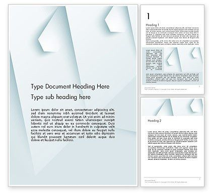 White Paper Style Abstract Word Template 13264   PoweredTemplate.com