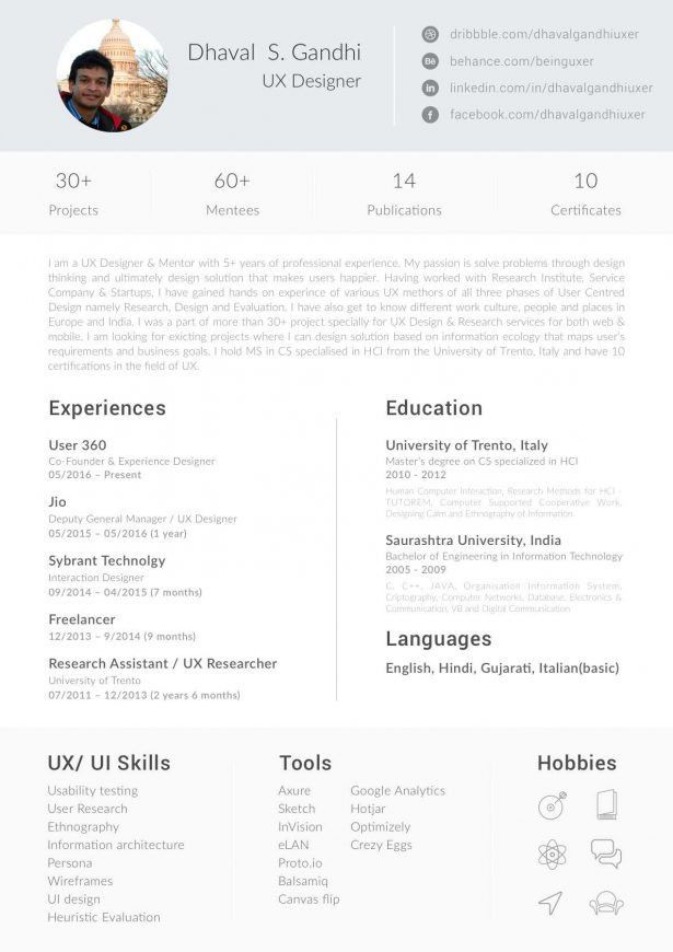 Resume : Active Directory Resume Cover Page For Photography ...