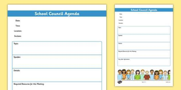 School Council Meeting Agenda Template - school council