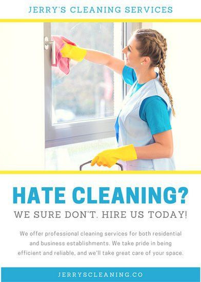 Cleaning Flyer Templates - Canva