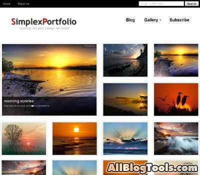 A Showcase of 13 Brilliant Blogger Templates For Showcase, Gallery ...