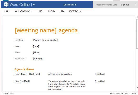 Free Agenda Templates For Word