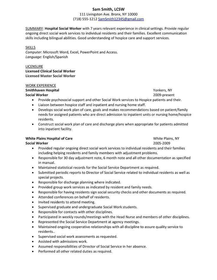 Social Work Resumes, social worker resume examples examples of ...