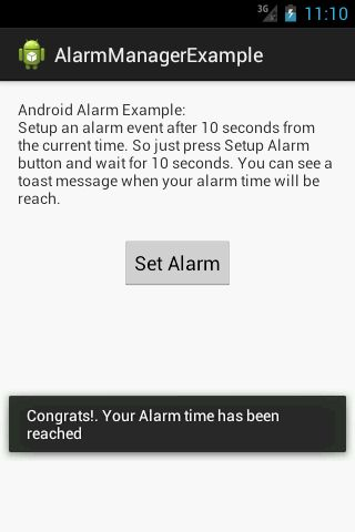 Simple Android AlarmManager Example to Schedule an Event | Techblogon