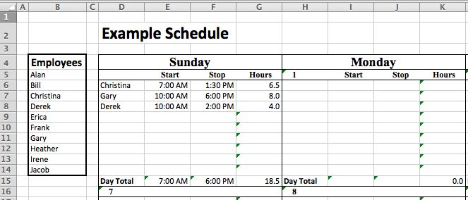 Excel Staffing Model - Free Template